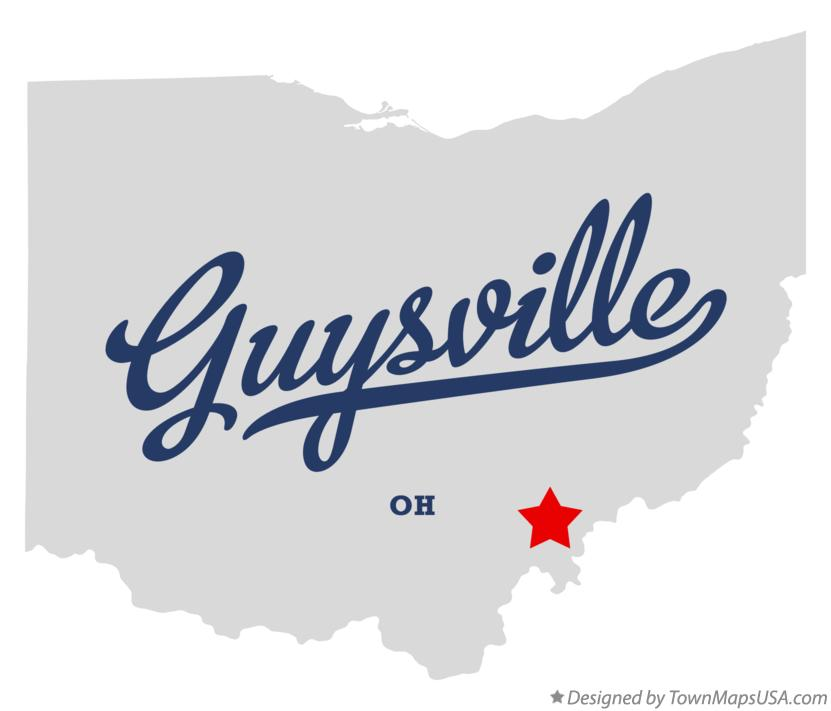 Map of Guysville Ohio OH