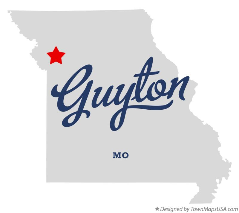 Map of Guyton Missouri MO