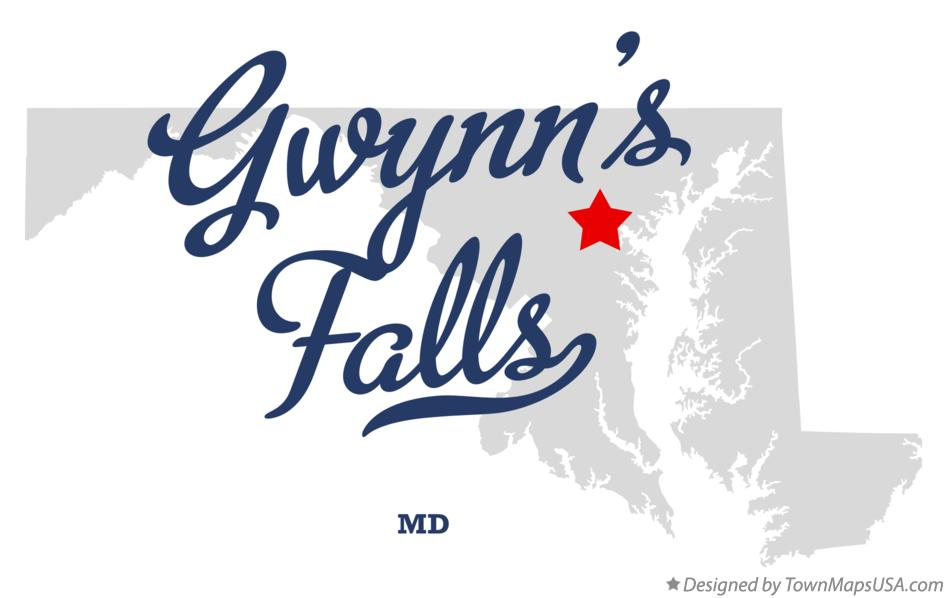 Map of Gwynn's Falls Maryland MD