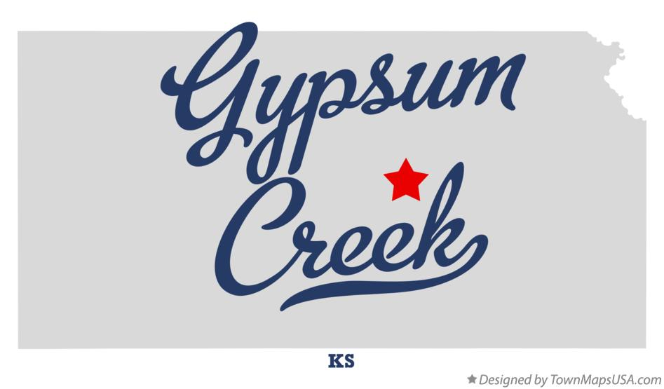 Map of Gypsum Creek Kansas KS