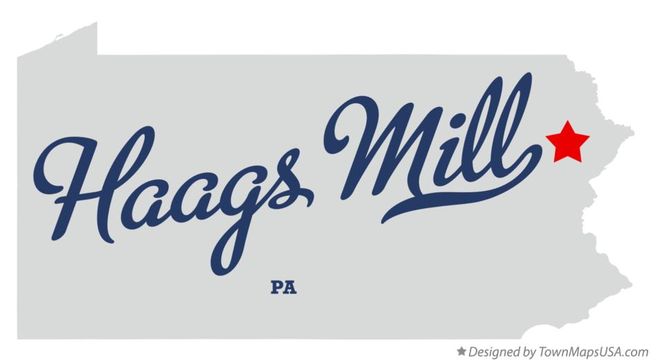 Map of Haags Mill Pennsylvania PA