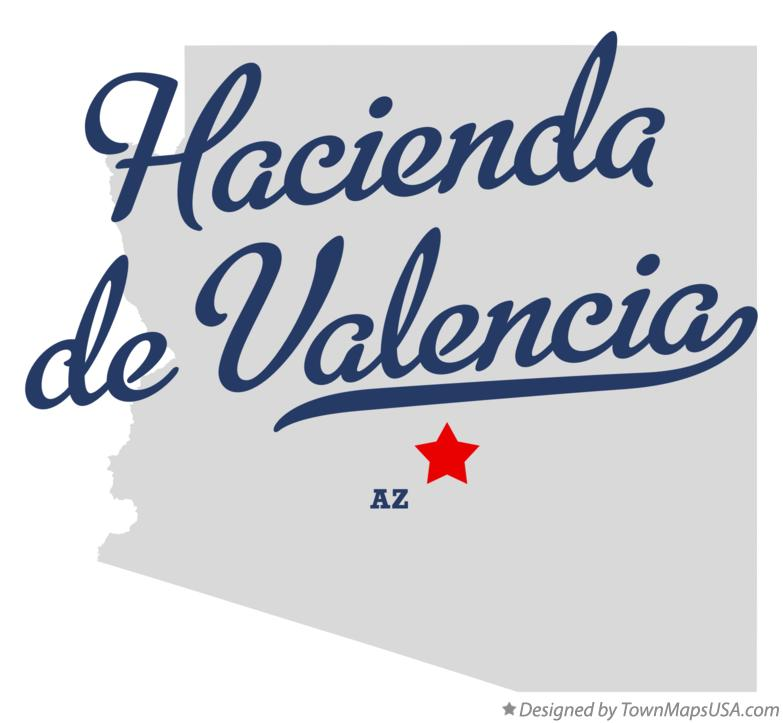 Map of Hacienda de Valencia Arizona AZ