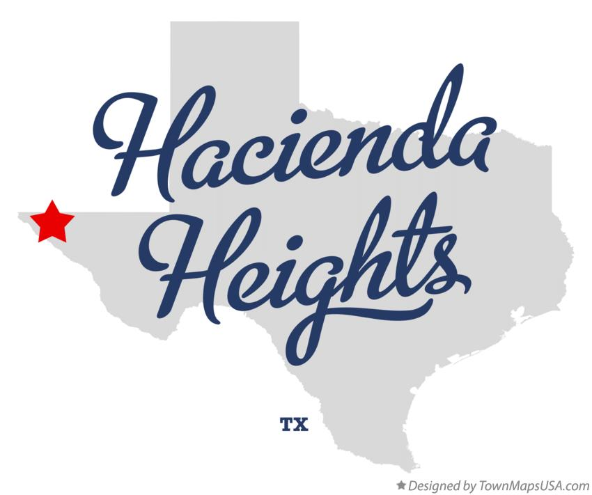 Map of Hacienda Heights Texas TX