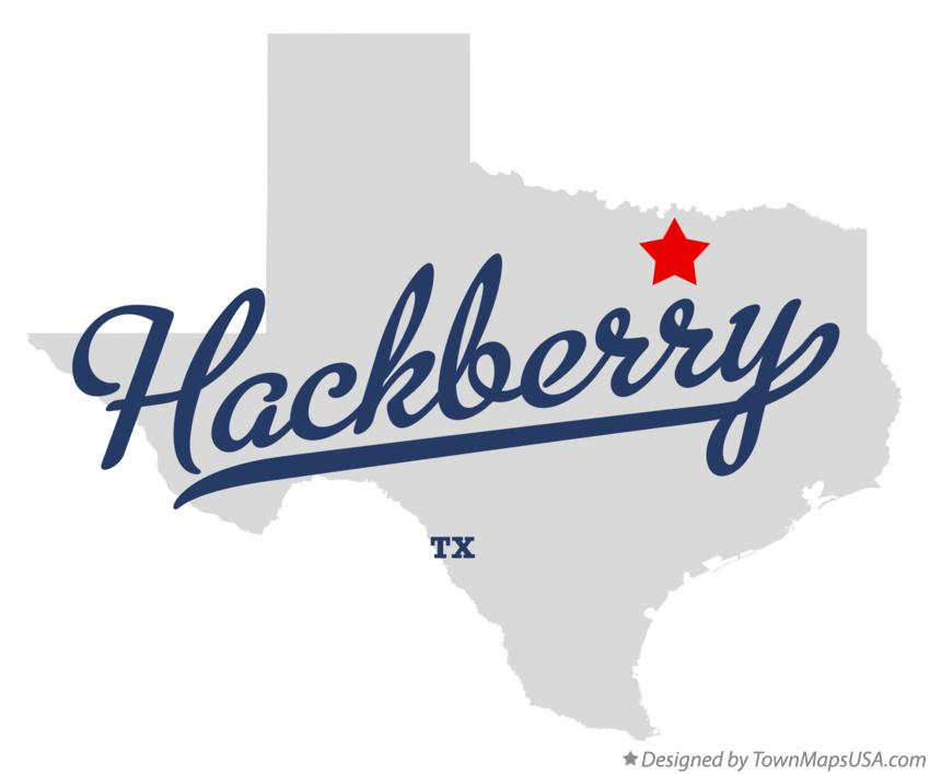 Map of Hackberry Texas TX