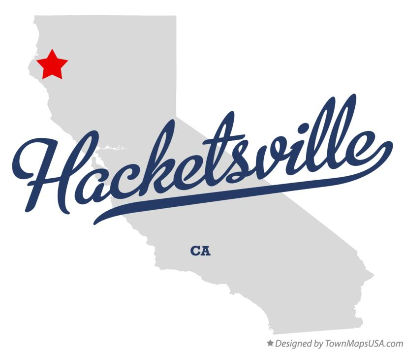 Map of Hacketsville California CA