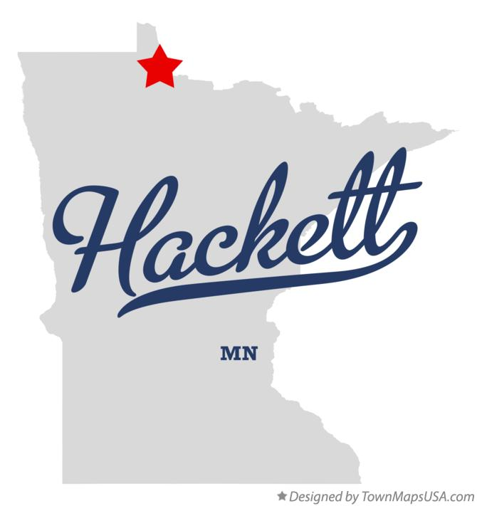 Map of Hackett Minnesota MN