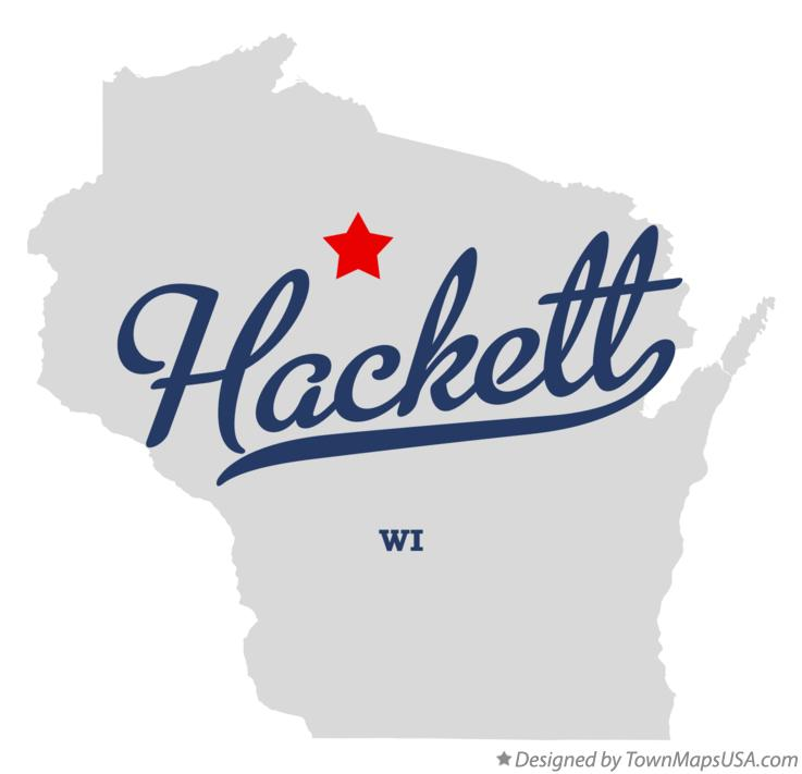 Map of Hackett Wisconsin WI