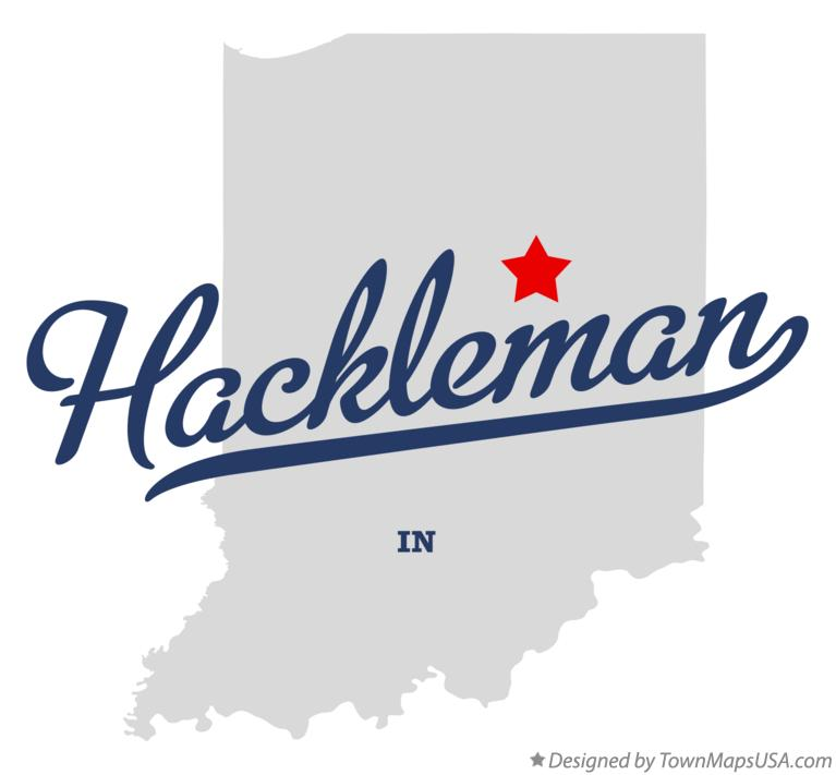 Map of Hackleman Indiana IN
