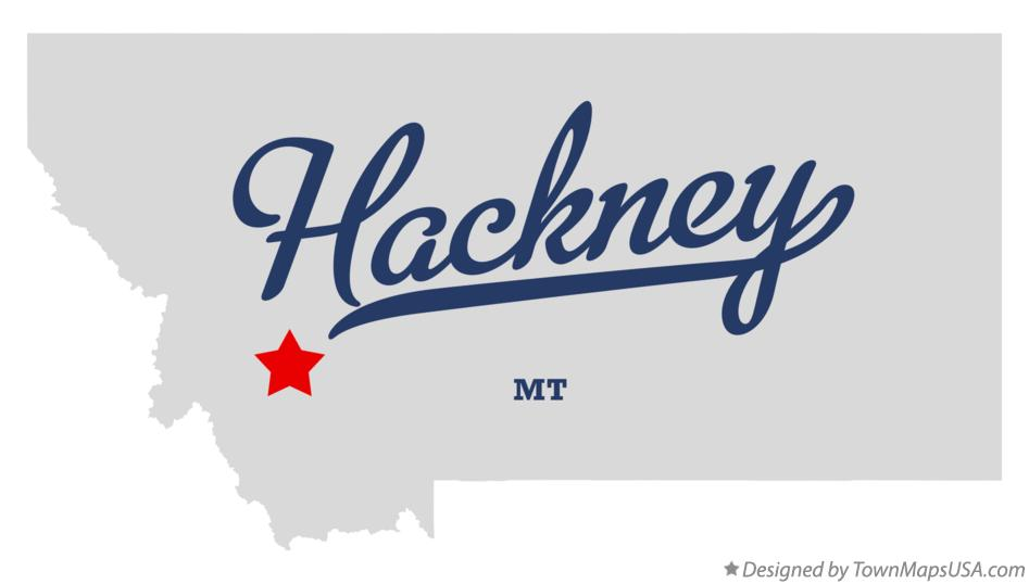 Map of Hackney Montana MT