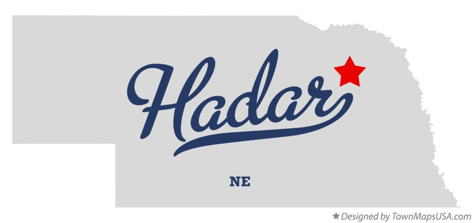 Map of Hadar Nebraska NE