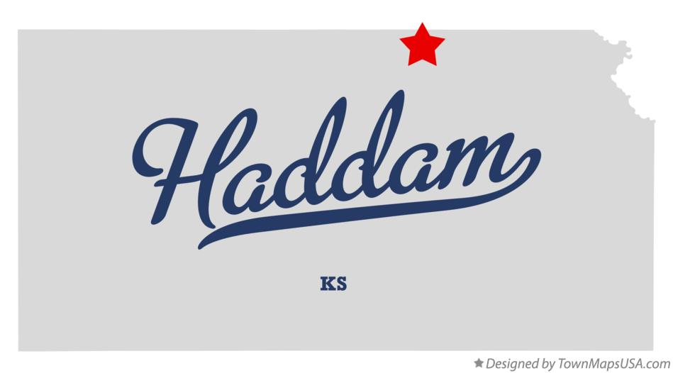 Map of Haddam Kansas KS