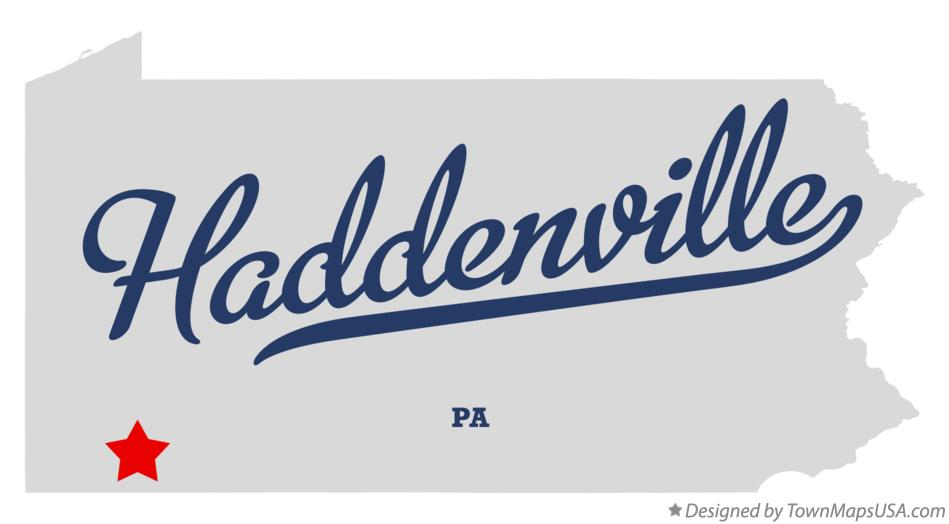 Map of Haddenville Pennsylvania PA