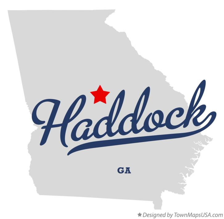 Map of Haddock Georgia GA