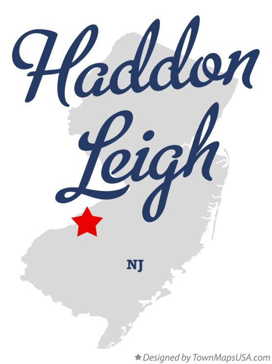 Map of Haddon Leigh New Jersey NJ