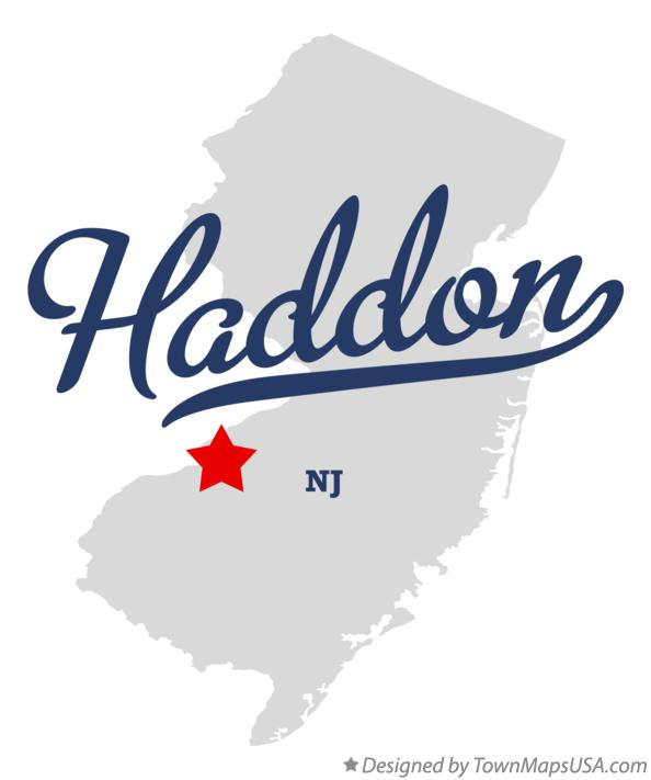 Map of Haddon New Jersey NJ