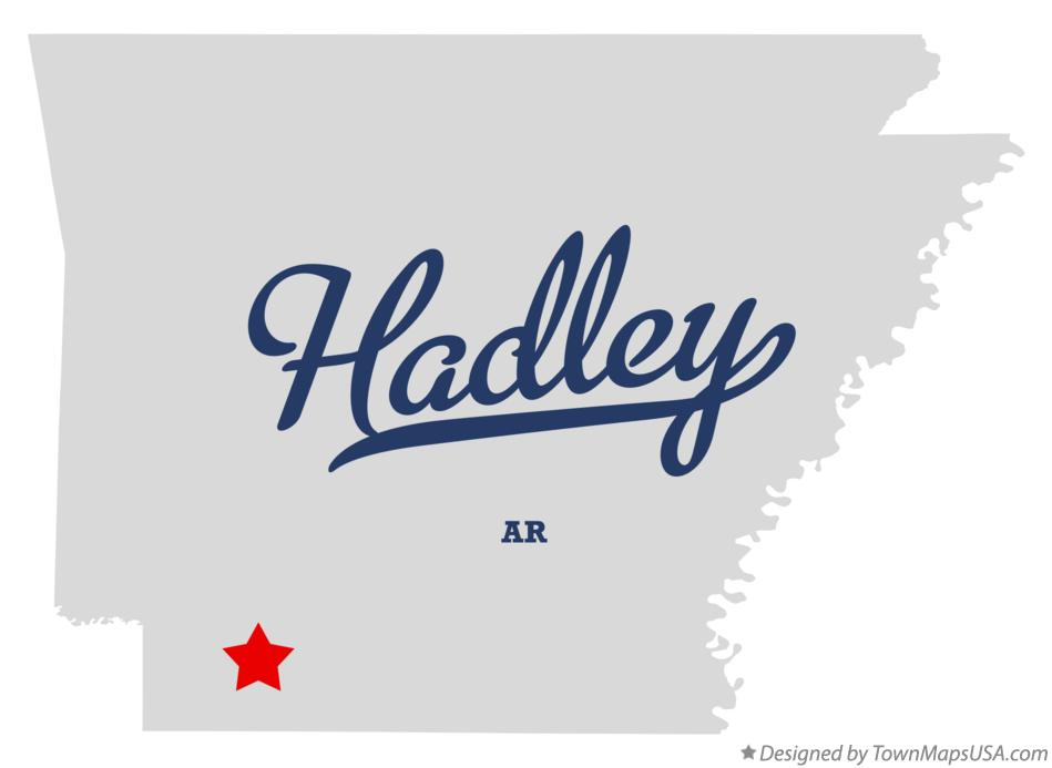 Map of Hadley Arkansas AR
