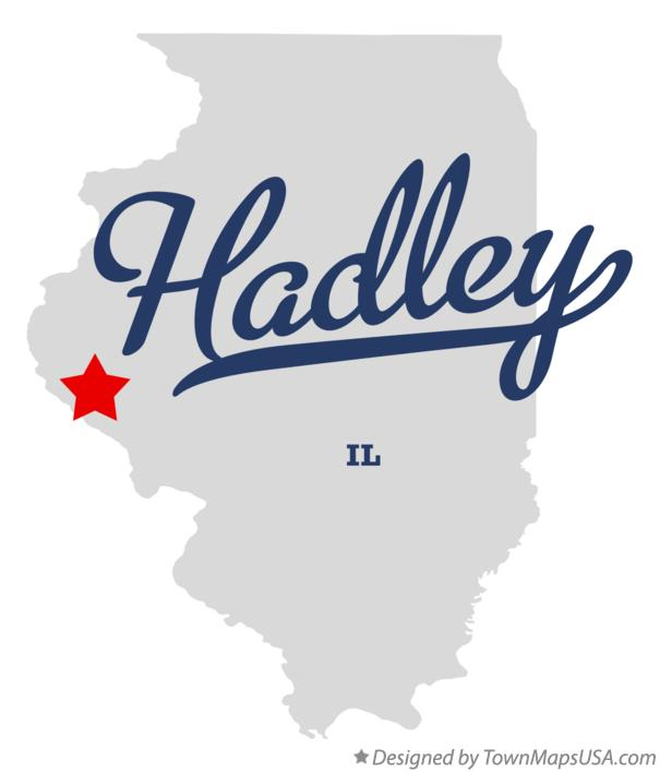 Map of Hadley Illinois IL