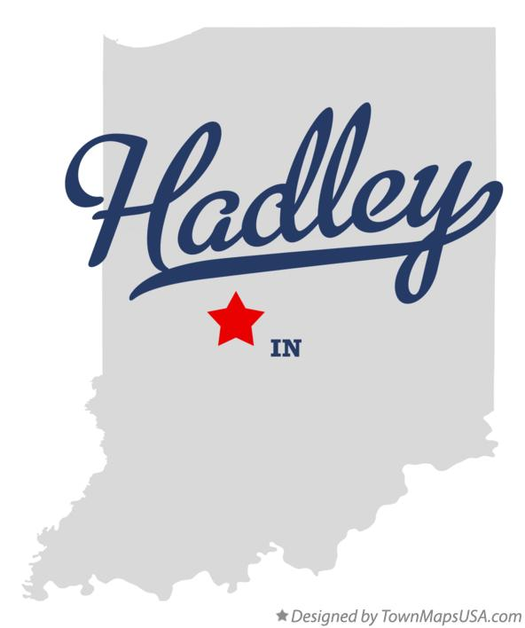 Map of Hadley Indiana IN