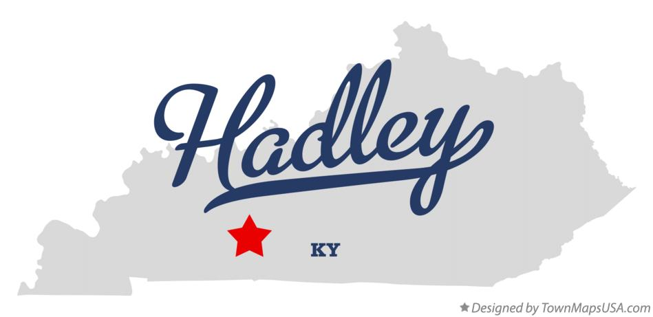 Map of Hadley Kentucky KY