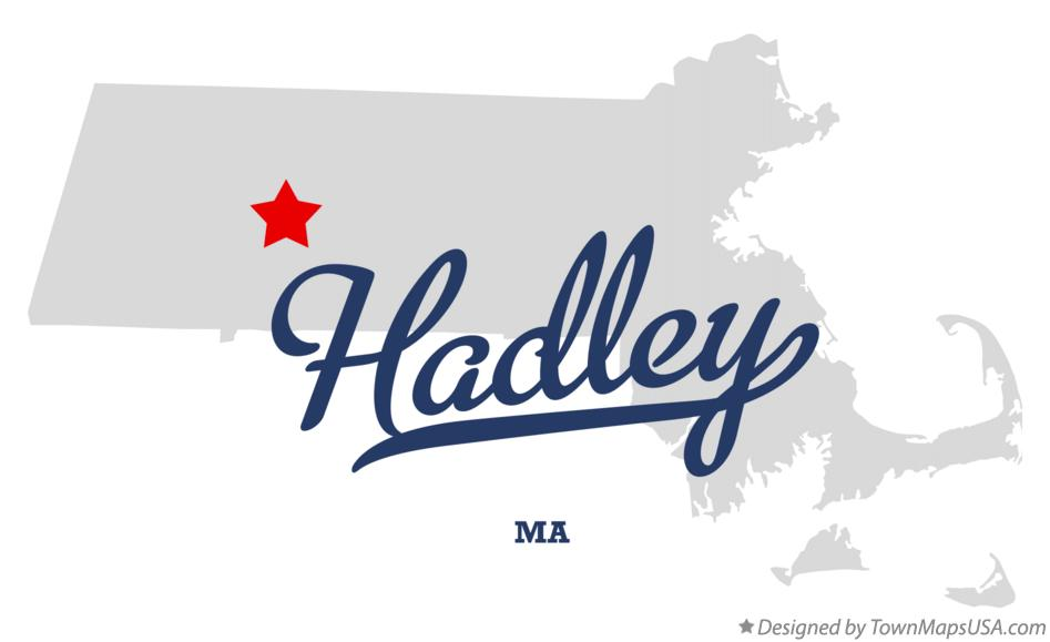 Map of Hadley Massachusetts MA
