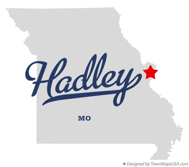 Map of Hadley Missouri MO