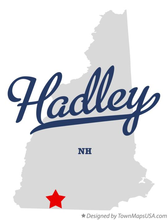 Map of Hadley New Hampshire NH
