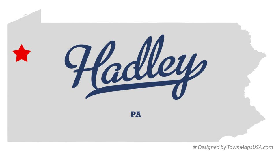 Map of Hadley Pennsylvania PA