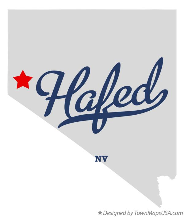 Map of Hafed Nevada NV