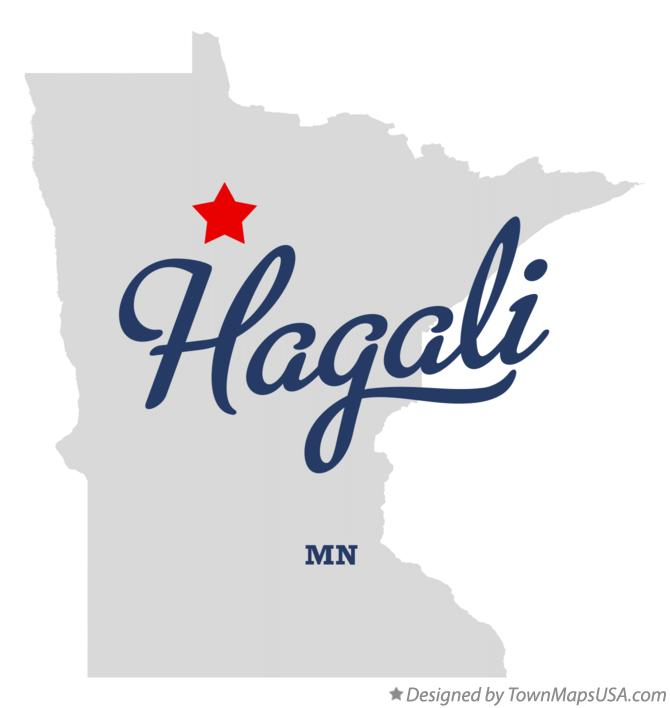Map of Hagali Minnesota MN