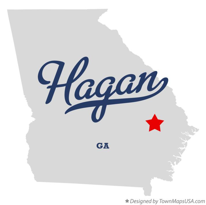 Map of Hagan Georgia GA