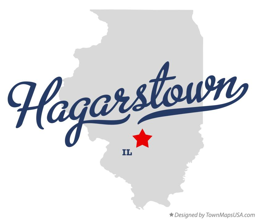 Map of Hagarstown Illinois IL