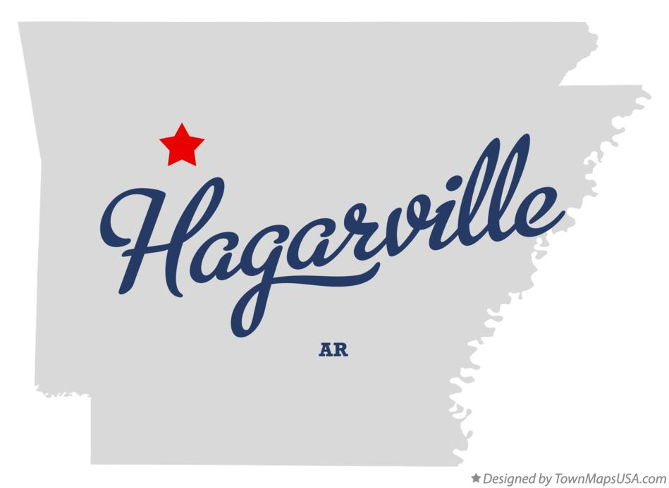 Map of Hagarville Arkansas AR