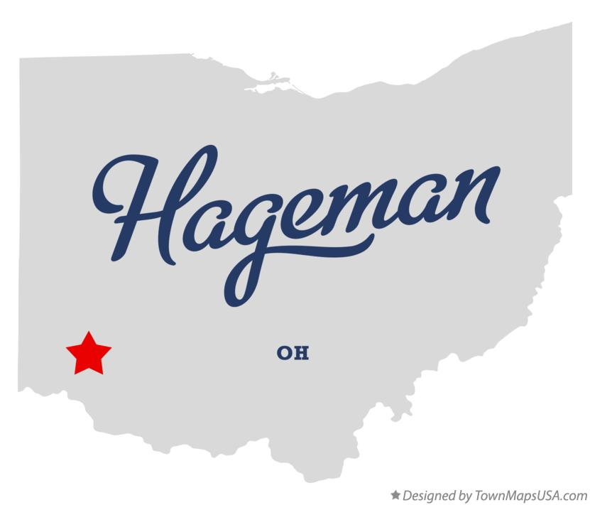 Map of Hageman Ohio OH