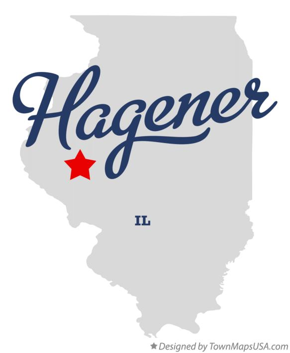 Map of Hagener Illinois IL