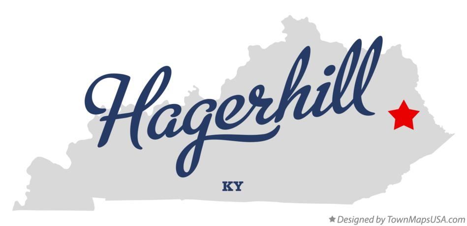 Map of Hagerhill Kentucky KY