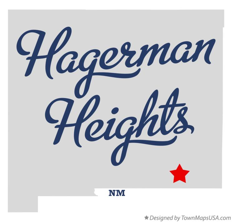 Map of Hagerman Heights New Mexico NM