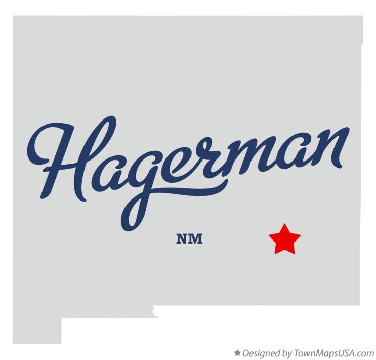 Map of Hagerman New Mexico NM