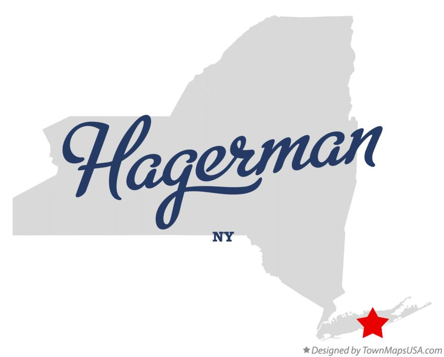 Map of Hagerman New York NY