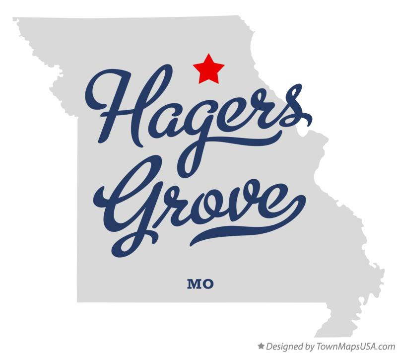 Map of Hagers Grove Missouri MO