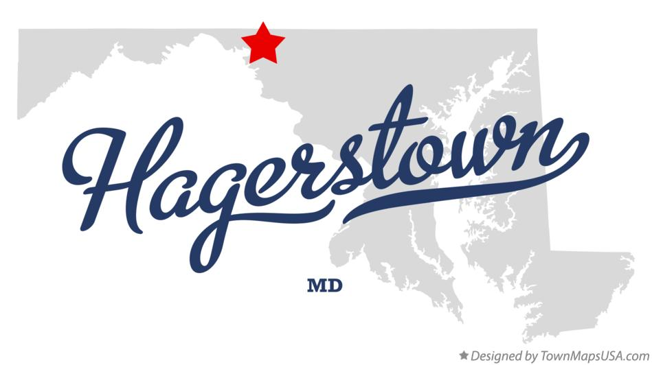 Map of Hagerstown Maryland MD