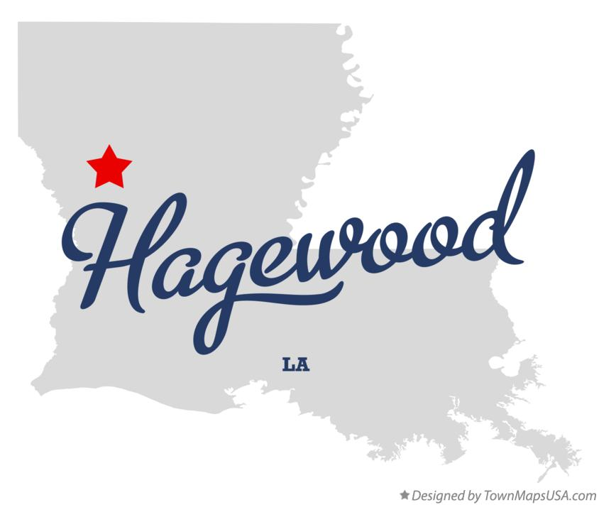Map of Hagewood Louisiana LA