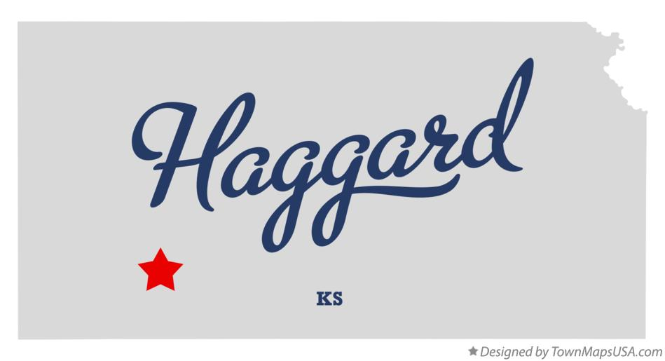 Map of Haggard Kansas KS