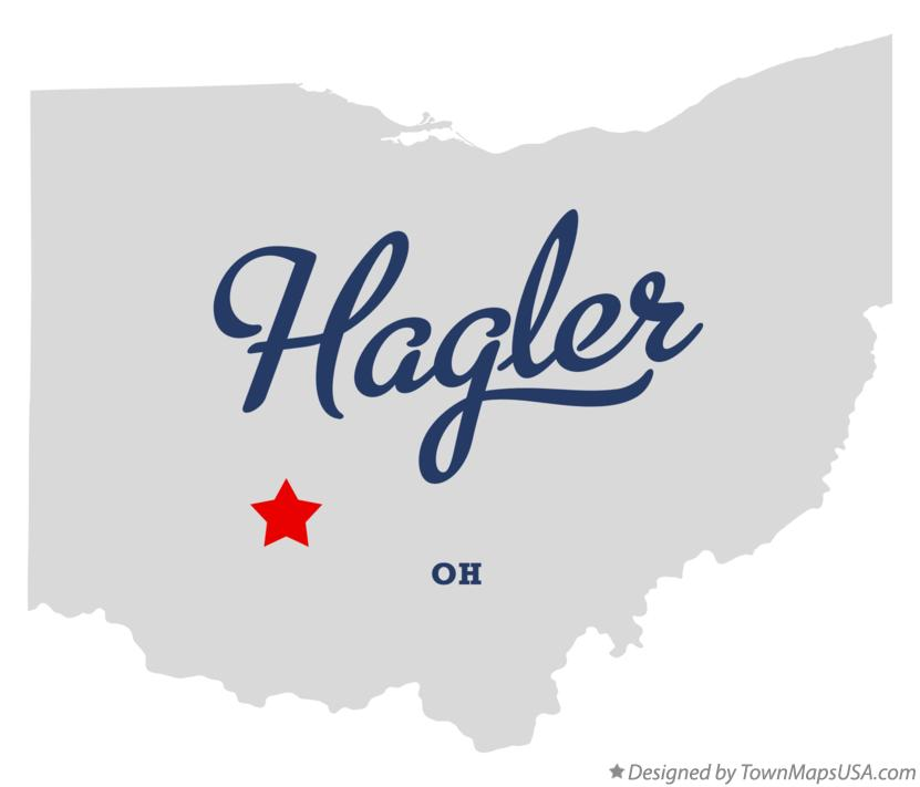 Map of Hagler Ohio OH