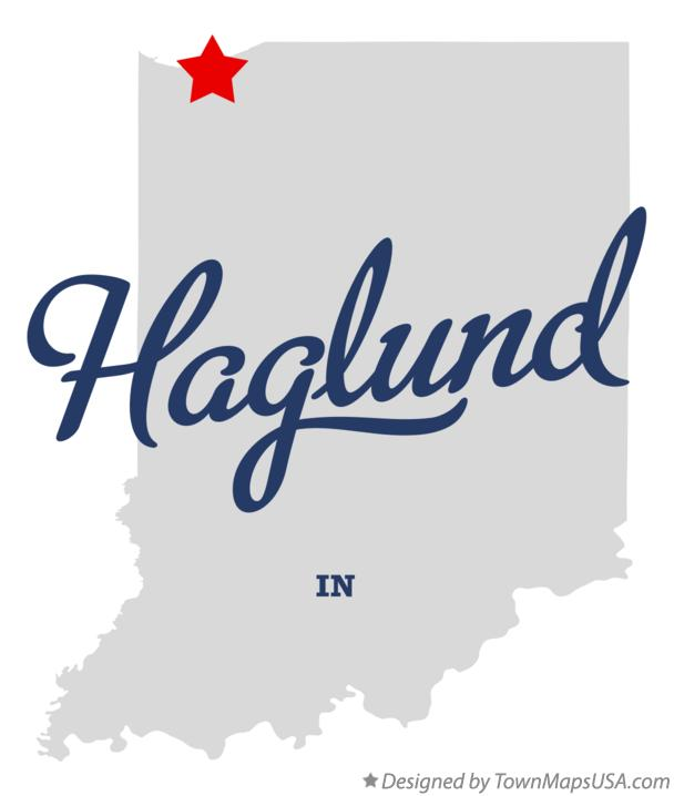Map of Haglund Indiana IN
