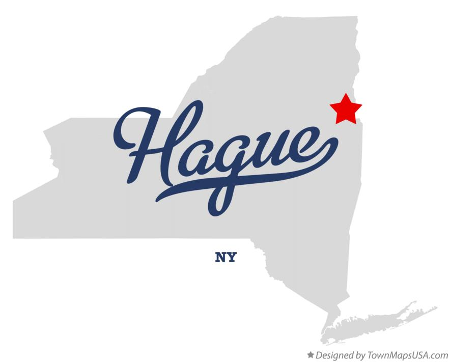 Map of Hague New York NY