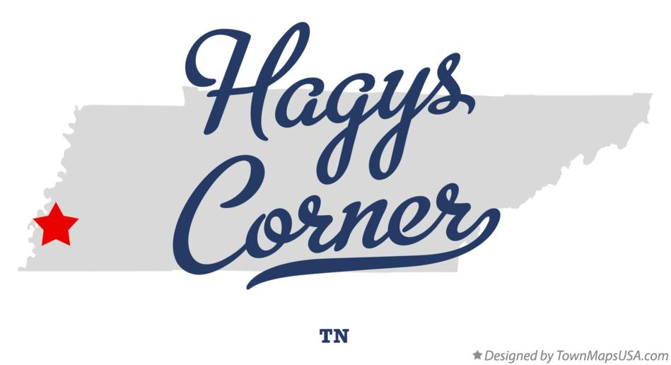 Map of Hagys Corner Tennessee TN
