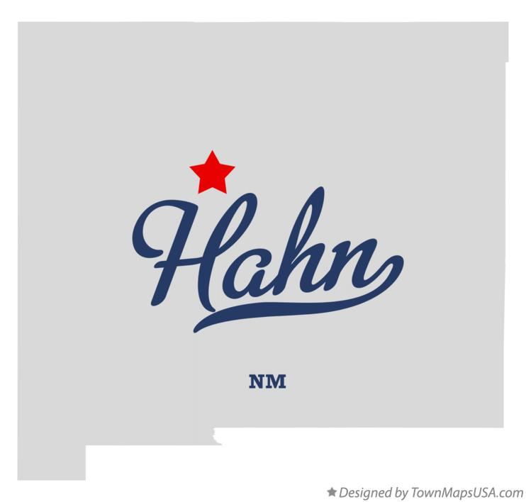 Map of Hahn New Mexico NM