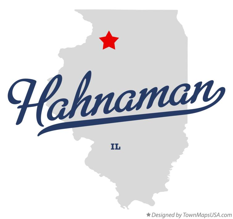 Map of Hahnaman Illinois IL