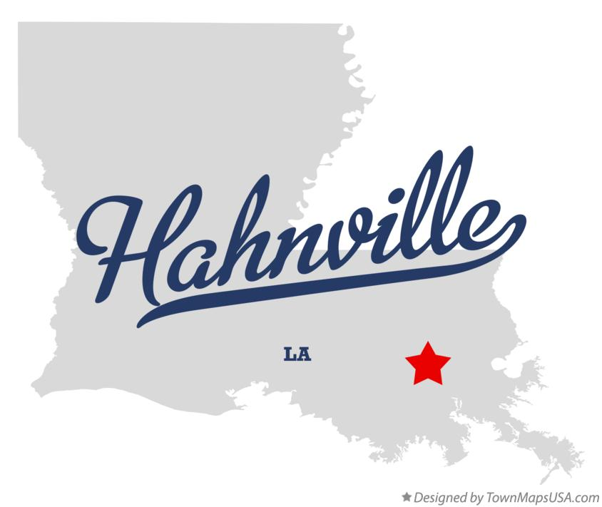 Map of Hahnville Louisiana LA