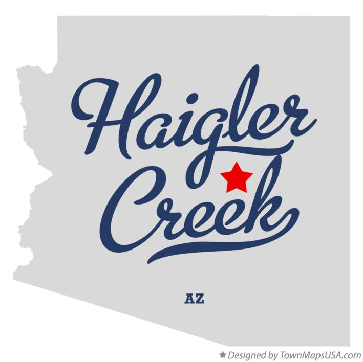 Map of Haigler Creek Arizona AZ